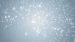 Beautiful Blue Winter Background With Snowflakes stock footage