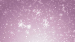 Beautiful Pink Winter Background With Snowflakes stock footage