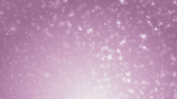 Beautiful pink winter background with snowflakes Animation