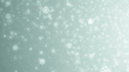 Beautiful neon winter background with snowflakes Animation