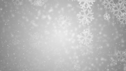 Beautiful red winter background with snowflakes Animation