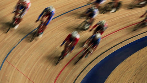 Cycle Race Track stock footage