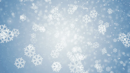 Beautiful blue winter background with snowflakes Animation