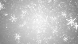 Beautiful Silver Winter Background With Snowflakes stock footage