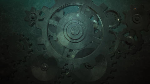 Mechanical epic rusty metal ear animation for intro and logo reveal After Effects Template