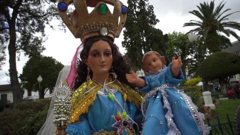Catholic Religion Virgen de El Cisne Footage