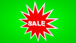 Sale Label On A Green Screen stock footage
