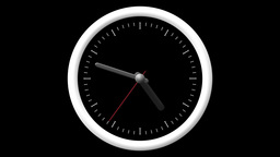 Animated Clock Countdown 12 Hours Over 60 Seconds. Seamlessly Loops. Time Lapse. stock footage