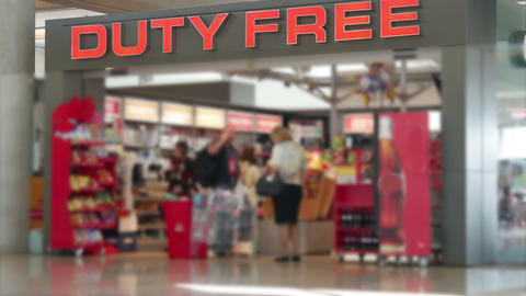 Duty-free shop. No focus Footage