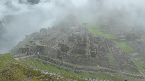 Machu Picchu, the ancient Inca city in the Andes Footage