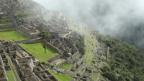 Machu Picchu, the ancient Inca city in the Andes Live Action