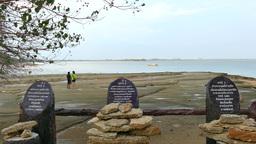 Krabi Shell Cemetery (Susan Hoi) stock footage