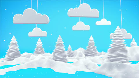Winter Landscape 3D Scene 4K Animation
