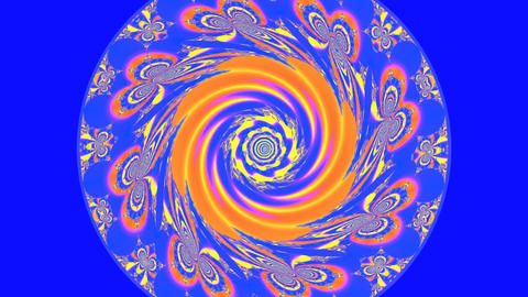 Colorful Spiral Mandala stock footage