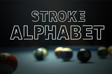 Stroke Alphabet After Effects Template