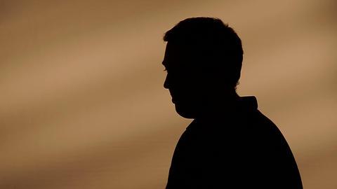 Male silhouette talking Footage