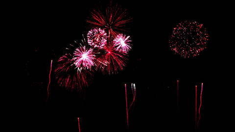 Firework Show Animation - Loop Red Animation