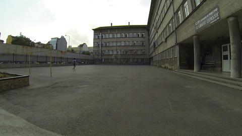 Schoolyard in Sofia, Bulgaria ビデオ