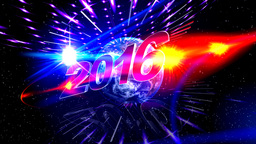 Happy New Year , Earth , 2016 stock footage