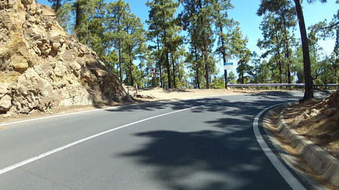 Driving In The Mountains Of Tenerife stock footage