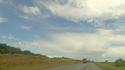 Clouds over the road. The path from Ekaterinovka village - Shutor village, Tatar Live Action