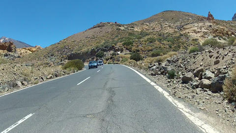 Driving In Volcano Landscape stock footage