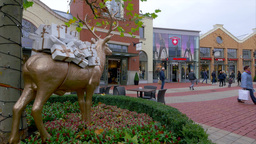 Factory Outlet, Ingolstadt Village, Bavaria, Germany stock footage