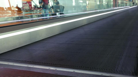 Moving Walkway at the Airport Live Action