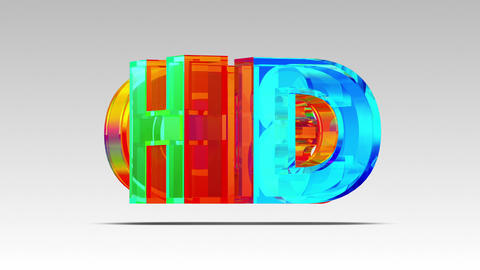 3D HD Glass Logo. Loop Animation
