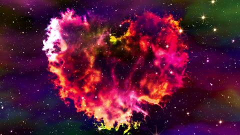 Flight Through Nebula Heart Animation