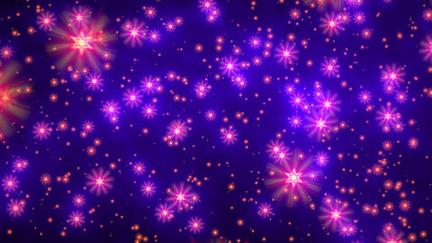 Blue purple david stars flight starfield background loop rotate right Animation
