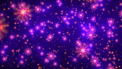 Blue purple david stars flight starfield background loop rotate right Animation