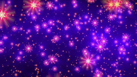 Blue purple david stars flight starfield background loop Animation