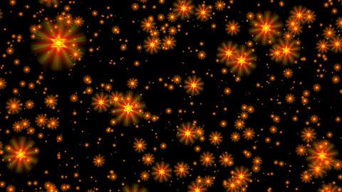 Yellow gold david stars flight starfield background loop rotate right Animation