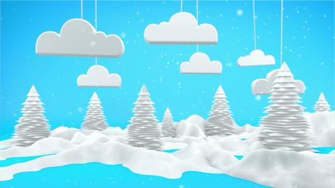 Winter Landscape 3D Scene Motion Graphics 4K Stock Video Footage
