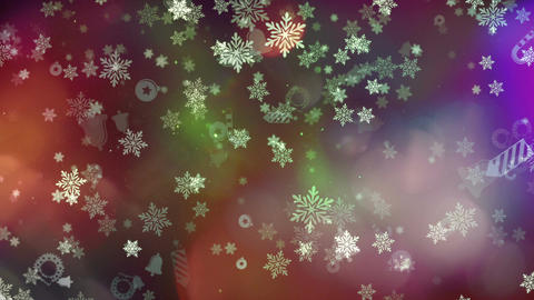 Christmas and New Year Background CG動画素材