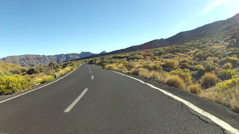 Driving In The Mountains Of Tenerife - Timelapse Version stock footage