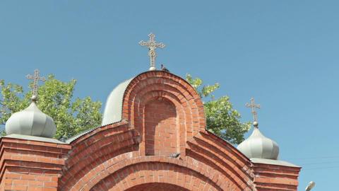 Gate to Spaso-Preobrazhensky Cathedral in the city of Nizhny Novgorod Footage