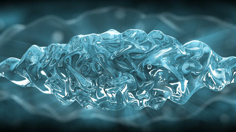 Abstract motion background, energy waves Animation