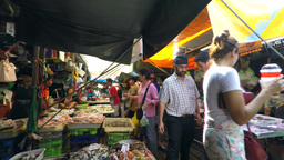 Seafood At A Market In Thailand stock footage
