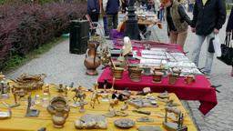 Antique market. Flea market Footage