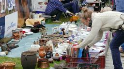 Antique market. Flea market 6 Footage
