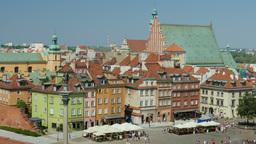 Warsaw, Poland. King Sigismund column, market square, old town Footage