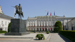 Warsaw, Poland. The Presidential Palace Live Action