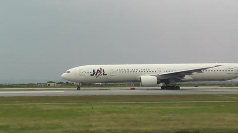 Okinawa Naha Airport 01 jal Stock Video Footage