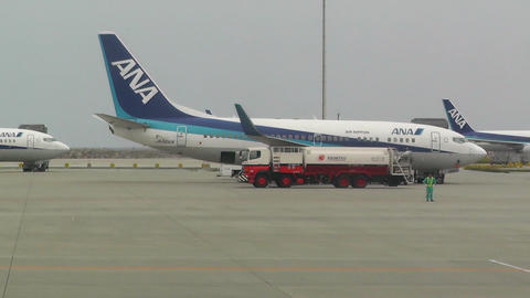Okinawa Naha Airport 03 ana Stock Video Footage