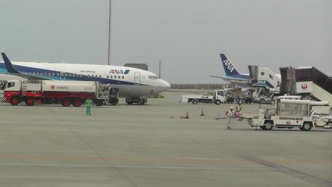 Okinawa Naha Airport 03 ana Stock Video Footage