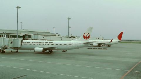 Okinawa Naha Airport 05 jal 1 Stock Video Footage