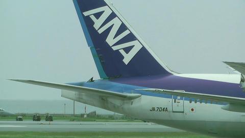Okinawa Naha Airport 07 ana Stock Video Footage