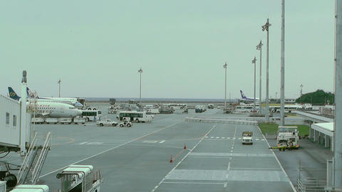 Okinawa Naha Airport 11 Stock Video Footage